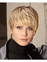 short hair with length at the nape of the neck pixie wig with longer sides and nape hair style wig and hair humor