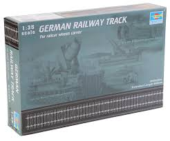amazon com trumpeter 1 35 german railway track set 36