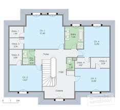plan maison etage 4 chambres 1 bureau decoration provencale pour cuisine 15 plan maison etage 4