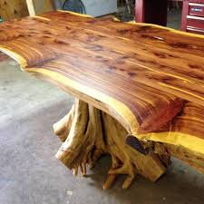 live edge round table stump table rustic table live edge table cedar table dining