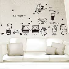 diy food restaurant wall stickers wall decor removable cute people