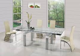 Round Glass Dining Table Wood Base Dining Tables Extendable Glass Dining Table Glass Top Dining