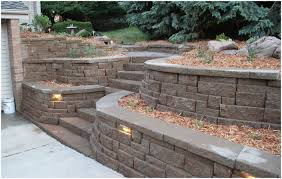 Paver Patio With Retaining Wall by Backyards Enchanting 25 Best Ideas About Large Retaining Wall
