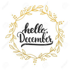 imagenes hola diciembre dibujado a mano la tipografía letras frase hola diciembre aislado