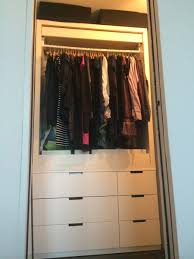 ultra simple wardrobe with new nordli 2x malm ikea hackers