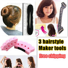 free hairstyle simulator for women 3sets hair braid kit styling tools for bun braid bob maker hairstyle