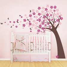 Flower Wall Decals For Nursery by Blowing Cherry Blossom Tree Cute Style