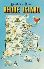 map rhode island rhode island state map vintage postcard by heritagepostcards
