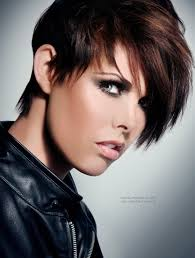short hair with color highlights hairstyle picture magz