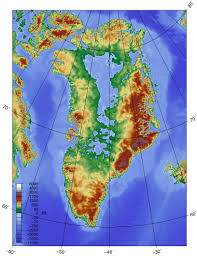 Topographical Map Of Usa by Topographic Map Of Greenland Without Its Ice Sheet Ecoclimax