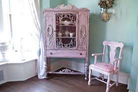Shabby Chic Secretary Desk by Custom Order Antique China Cabinet Shabby Chic Pink Distressed