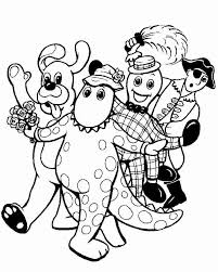 free printable wiggles coloring pages kids