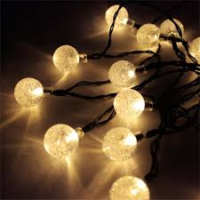Solar Powered Patio Lights String by Zitrades 20 Led Crystal Ball Solar Powered Outdoor String Lights