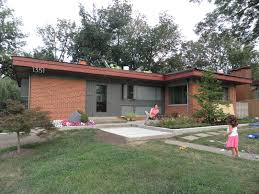 mid century modern curb appeal red roof cincinnati modernation p
