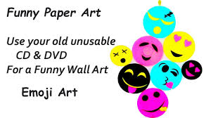 diy smiley room decor from cd dvd smiley emoji home decoration