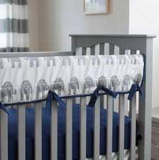 Off White Crib Bedding by Navy And Gray Elephants Crib Bedding Carousel Designs
