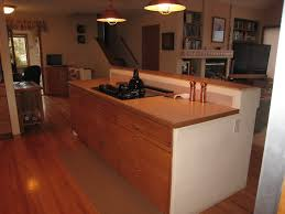 kitchen island cooktop bar