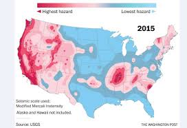 Seismic Risk Map Of The United States by Almost Half Of Americans Live In Places That Could Be Struck By