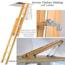 arrow timber sliding 2 section loft ladder lansford access ltd