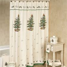 spode tree shower curtain