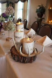 birch tree decor birch log candle holders for wedding centerpieces