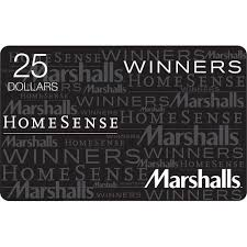 marshall gift card winners homesense marshalls 25 gift card more rewards