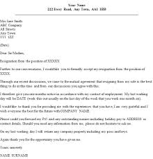 mutual resignation letter example icover org uk