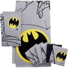 Batman Bedroom Set Batman Logo 6 Pack Wash Cloth Set Walmart Com
