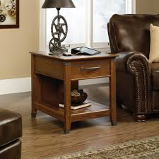 sauder coffee and end tables carson forge smartcenter side table 413350 sauder
