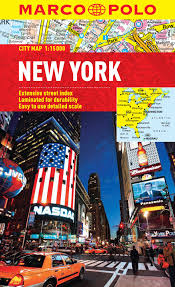 Nyc City Map New York Marco Polo City Map Marco Polo City Maps Amazon Co Uk