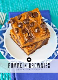 pumpkin brownies from the oven