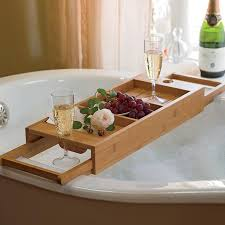stunning bathtub caddy designs with wine glass holder trends4us