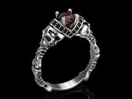 skull engagement rings 3d print model skull engagement ring 5 cgtrader