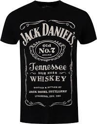 Jack Daniels Flag Official T Shirt Jack Daniels Big Classic Logo Black All Sizes