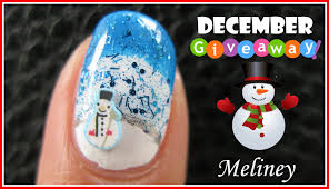 winter wonderland snowman nail art tutorial u0026 giveaways easy