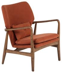 Burnt Orange Accent Chair Edwin Lounge Chair Burnt Orange Midcentury Armchairs And