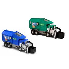 tonka mighty motorized garbage truck front loader with lights and