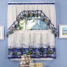 Lighthouse Window Curtains Lighthouse Bathroom Decor Nautical Curtains Ebay Electronics