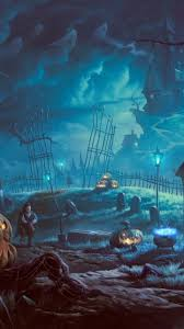 download 720x1280 halloween graveyard pumpkins vampire
