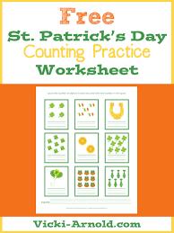 st patrick u0027s day counting practice worksheet simply vicki