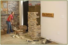 wall decor installing stone veneer panels for more beautiful wall