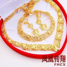 wedding gold set wholesale exquisite butterfly jewelry set bridal wedding suit