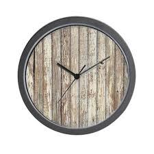 Shabby Chic Wall Clocks by Barn Wood Wall Clock Barn Wood Clock With Rusted Roof Metal U0026
