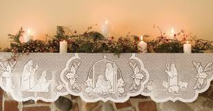 nativity table centerpiece lace nativity mantle scarf beautifully
