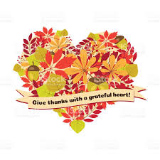 happy thanksgiving notes vector poster with quote give thanks a grateful heart stock vector