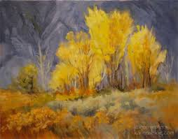 Impressionist Landscape Painting by Aspen Grove Sierra California Landscape Oil Painting By