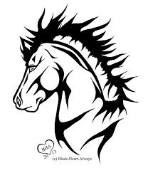 horse heart tattoo tribal horse tattoo by tribal horse tattoo