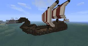 simple viking boat minecraft project