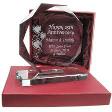 engraved anniversary gifts 20th wedding anniversary gift engraved presentation cut glass