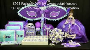 quinceanera packages quinceanera centerpiece large mask with lights in aqua and purple